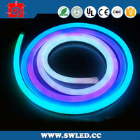 battery powered ad blue color led neon flex color changing LED neon rope lamp