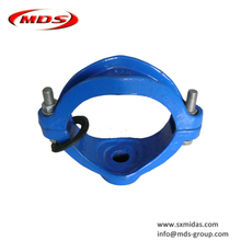 ISO2531 ductile cast iron 4 inch pipe saddle clamp for ductile iron di pipe