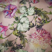 Made in China good looking high quality custom digital print silk cotton fabric