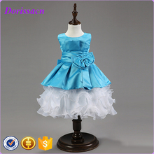 2016 Luxury Design Little Party Pageant Tutu Blue Dress Party Gowns For Kids Baby Ball Gowns Girls Dresses C-1