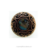 Wholesale 20mm bronze round alloy metal mother of pearl paper snap button