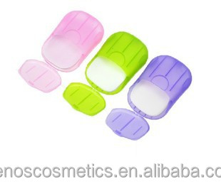 Washing Hand Bath Travel Scented Slice Sheets Foaming Box Paper Soap