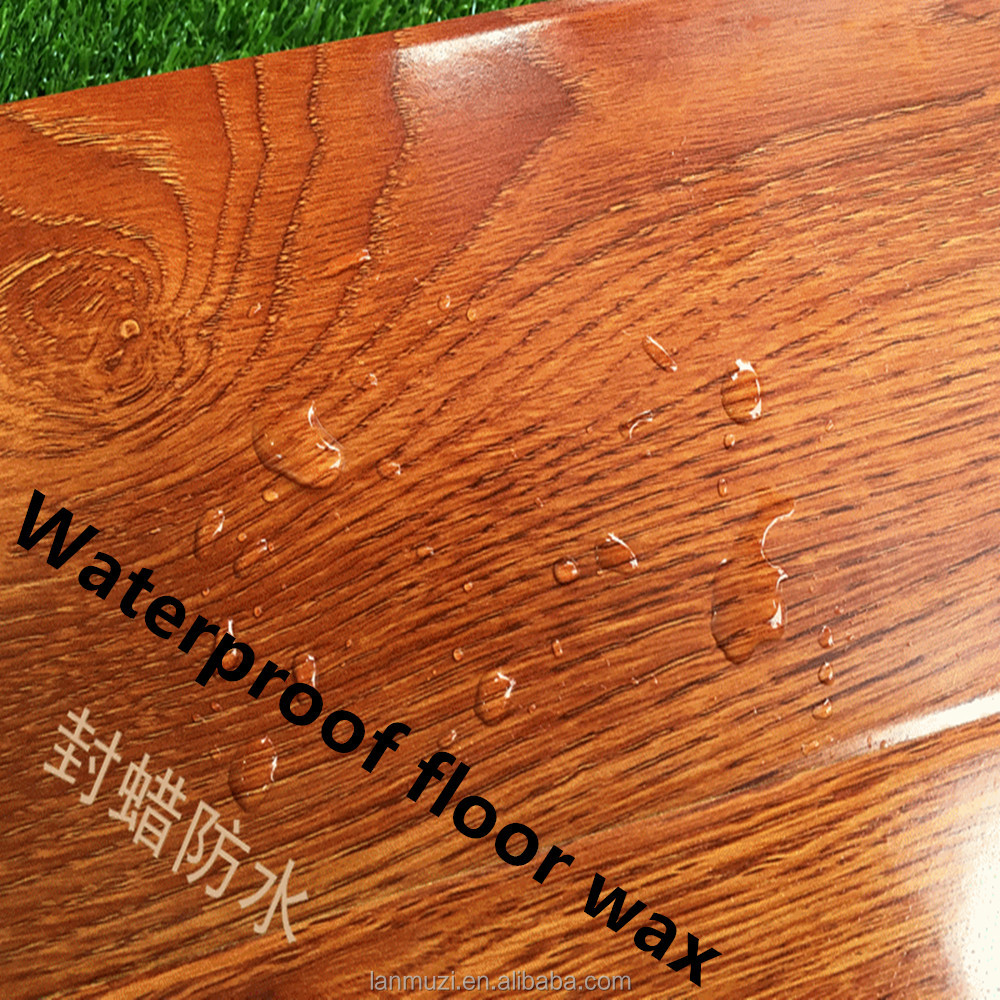 Laminate flooring manufacturers selling special offer 12mm E1 grade waterproof wax composite floor surface