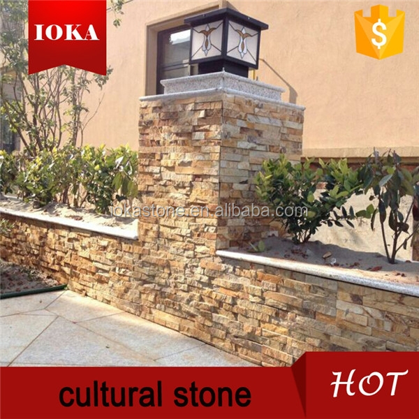 Decorative natural slate stack stone wall cladding
