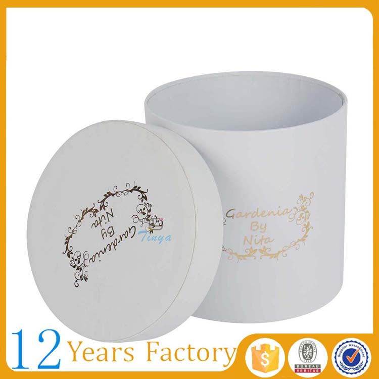 flowers packaging paper packaging tube round box white
