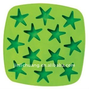 star shape silicone ice cube tray
