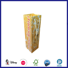 Strong paper high quality single wine bottle bags