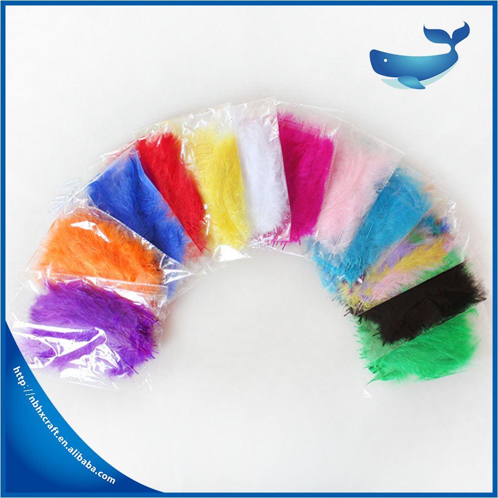 New Arrival Factory Wholesale Dyed Colorful Bulk Turkey Feathers For Sale