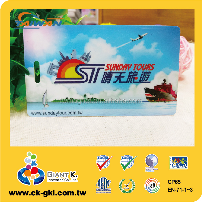 New product super quality logo plastic pvc blank baggage tag