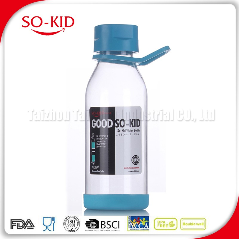 Best Quality Promotion Pyrex Glass Water Bottle With Silicone Sleeve