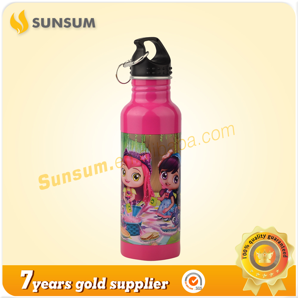 LFGB FDA Eco-Friendly 700Ml Printing Logo Kids Stocked Aluminum Water Bottle Sublimation