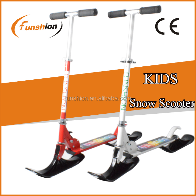 adult pro kick snow scooters/ski kick scooter with CE