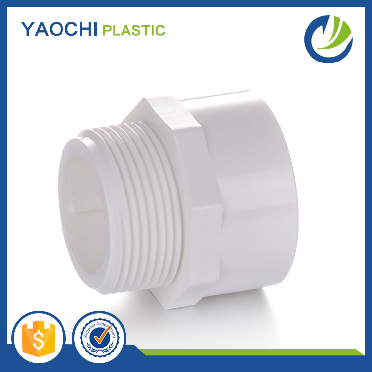 SCH40 standard and other standard top supplier All sizes available pipe pvc plastic male adapter