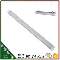 Pendant suspending ceiling wall mounted Waterproof Corrosion-proof Dust-proof 60w 120cm LED Tri-Proof light