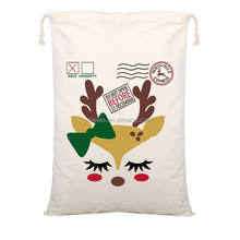 Merry Christmas Gift <strong>Bags</strong> New Large Canvas Santa Sack 9 Pattern Organic Heavy Canvas Drawstring <strong>Bag</strong> dhl free shipping