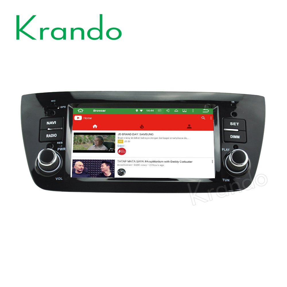 Krando Android 7.1 car multimedia radio for fiat doblo 2010-2014 car gps navigation system wifi 2G RAM KD-FD611