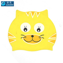 cat cotton cap Soft silicon swimming cap children cute hats