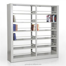 KD Double Side 6 Layers School Library Metal Bookcase / Wholesale Metal Bookshelves / Metal Book Shelf