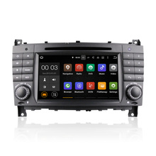 Winmark Newest Android 5.1 Car Radio DVD Player GPS 7 Inch 2 Din For Mercedes-Benz C-Class W203 2004-2008 DU7069