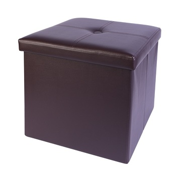 High quality PVC leather with button stool ottoman
