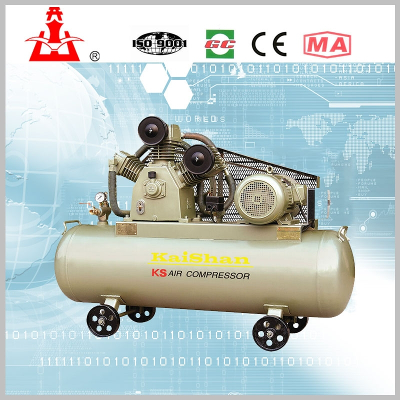 Portable KS Series piston air compressor motor driving KS150