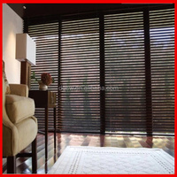 For House,Study room PVC faux wood Blinds /Timber Folding Venetian Window Blinds