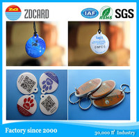 2015 newest hot selling animal print name tags