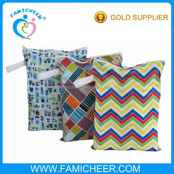 Famicheer eco-friendly economical dirty diaper wet bag nappy bags wholesale