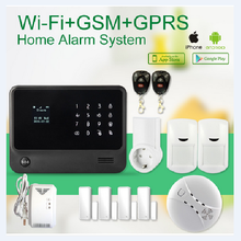 WIFI GSM GPRS 3 network wireless G90B home alarm system support gas detector