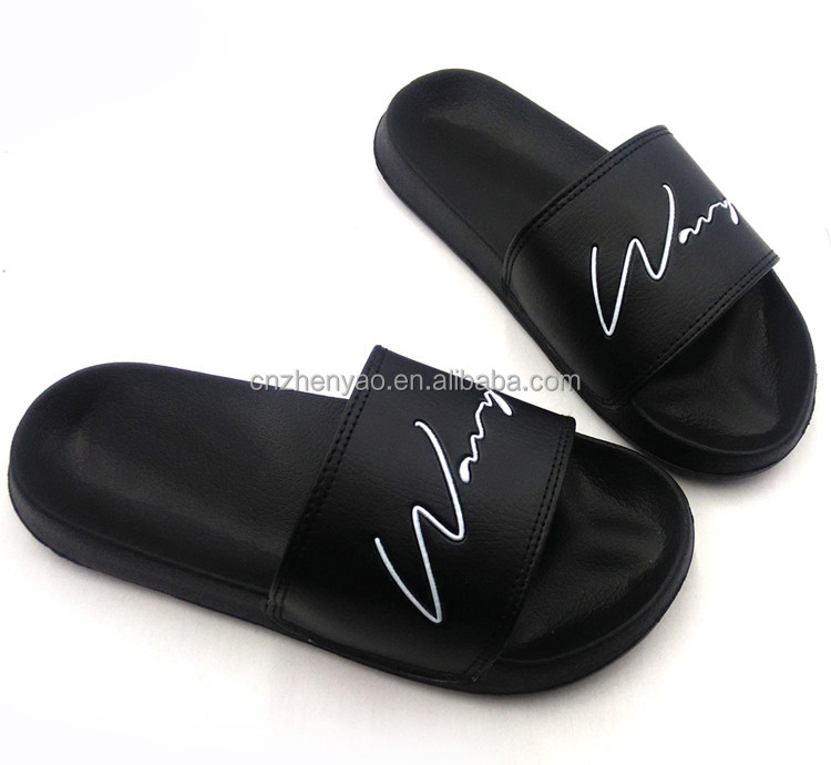 2017 wholesale EVA custom slides men slippers