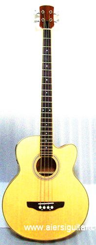 China Aiersi Cheap Price 4-string Electric Acoustic Bass Guitar