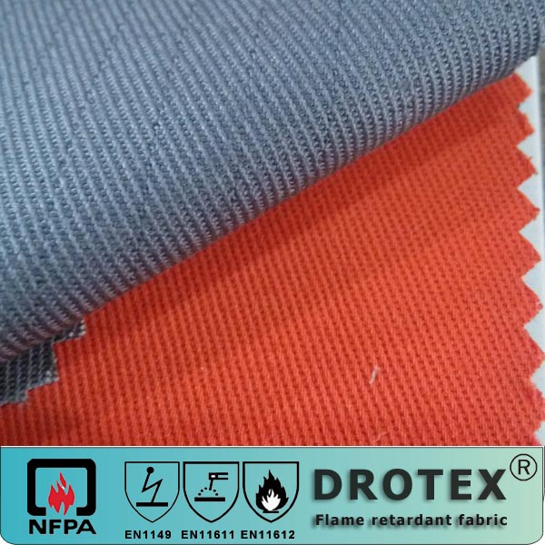 360GSM <strong>Poly</strong>/cotton FR Anti-static Fabric for FR protective clothing