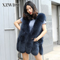 CX-G-B-15D High Quality Wholesale 70cm Length Real Fox Fur Vest