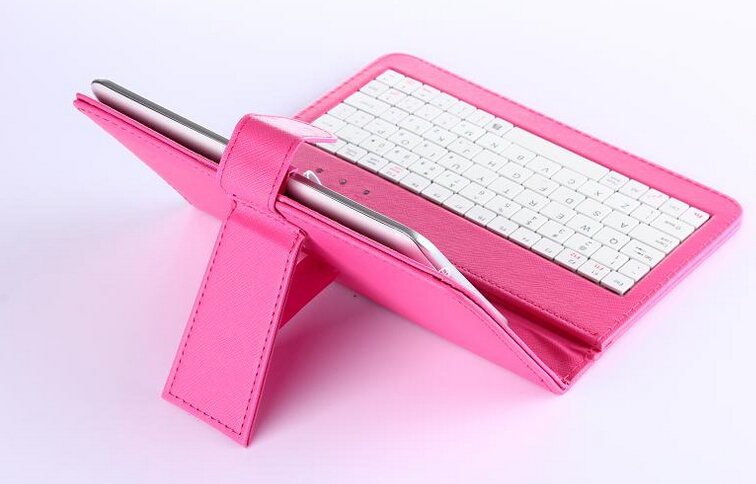 7 inch Universal Tablet Case , Leather Tablet Keyboard Case, Plastic USB Keyboard