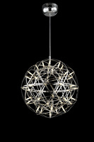 Vintage Globe Ball Pendant Light Chic Round Hanging Lamp Luxury Hotel Ceiling Light