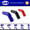 UV and ozone resistance silicone hose elbow 45 black/rubber hose