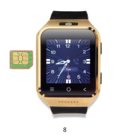 Android 4.4 smart system 3G WCDMA Android Watch Phone with camera 5.0 smart watch clock S8