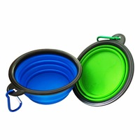 1pcs Dog Bowl,Dog Cat Pet Travel Bowl Silicone Collapsible Feeding Water Dish Feeder portable water bowl for pet DB-16S
