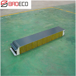 Good Corrosion Resistance Fireproof Rock Wool Roof Sandwich Panel Price For Building Partition Wall