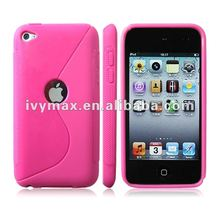 Cute pink TPU case for ipod touch 4