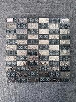 Color Mixed Glass Mosic Tile 12x12 blue ceramic floor tile