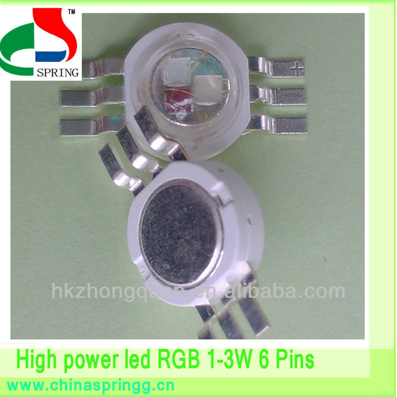 LED stage light wall washer <strong>3</strong> chip 6 pin led 3w high power rgb