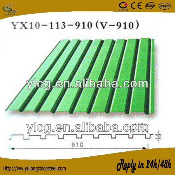 rib type pre coated metal sheet for roofing