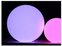 20/40/60cm Size Waterproof Plastic PE RGB Led Ball light via remote control