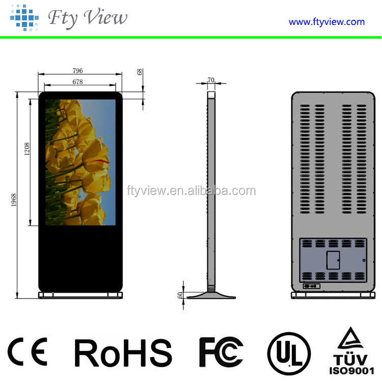 Innovative advertising product 55 inch touch screen advertising player