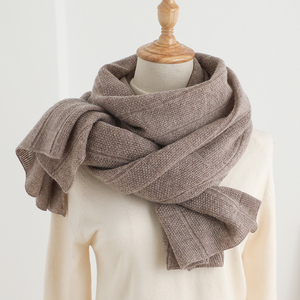 IMF Pure Cashmere Knitted Scarf For Men and Women British Style Lattice Scarf