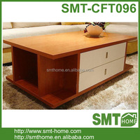 Modern Luxury MDF Coffee Tables Two Drawers Design