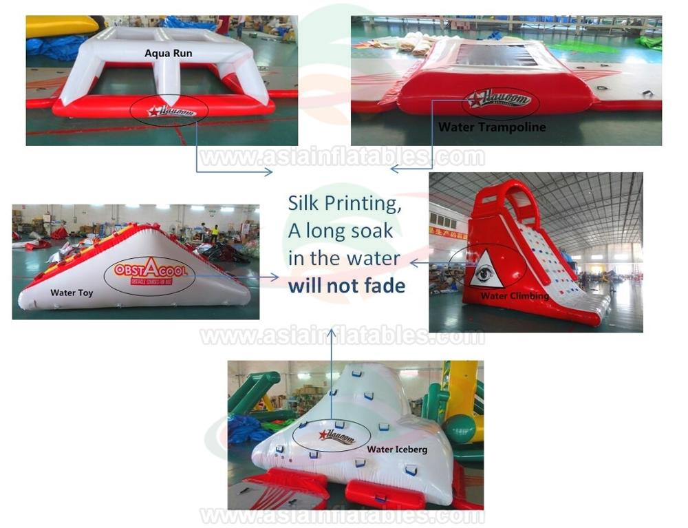 Giant Inflatable Floating Water Park For Adults, Floating Inflatable Aqua Park Adventure Water Sports