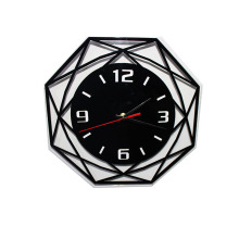 3d octangonal hanging wall clock for homedecoration wall clocks for bedroom