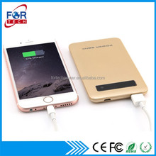 New Technology Power Bank Case 5000mAh, Ultra Thin Metal Powerbank for Gifts